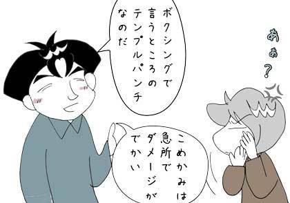 こめかみ1