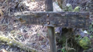 湯の山霊泉標識