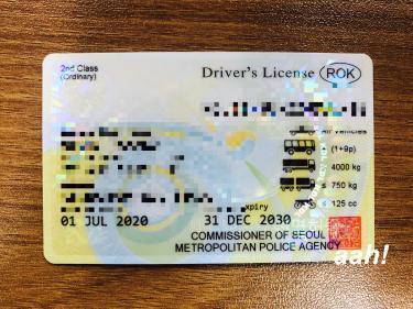 国際免許なので許可されている国で運転可能に。