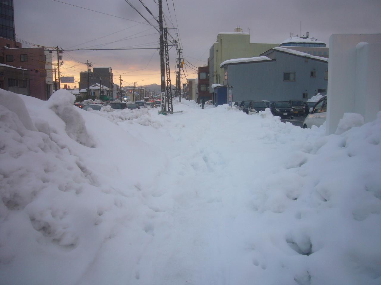 雪道を踏破 R3.1.13
