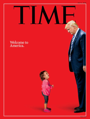 Time magazine puts Trump opposite sobbing child on cover