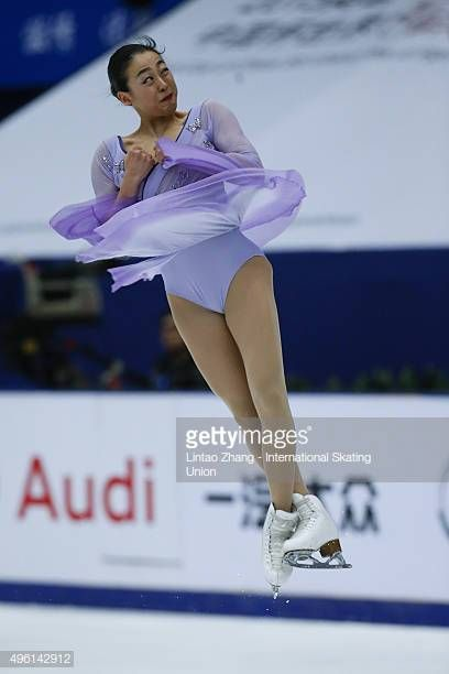 Mao Asada of Japan competes in the Ladies Short Program on day two of___