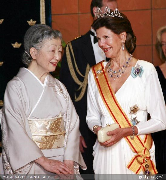 Queen Silvia wore this tiara for the second dinner during the Swedish State Visit to Japan in March 2007_