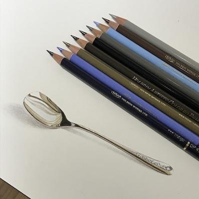 200402スプーン色鉛筆
