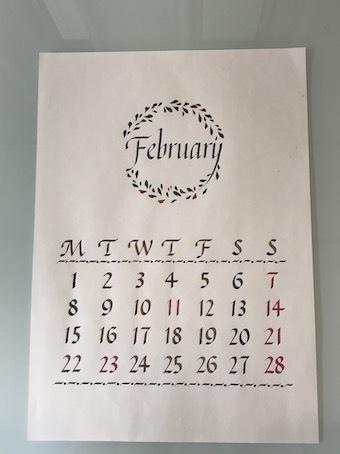 210108HNさんイタリックタイカレンダー