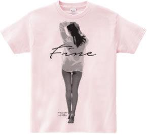 魅力的な美人 ハーフトーン デザインTシャツ & スエット