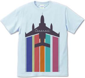 戦闘機と飛行機雲 Tシャツ
