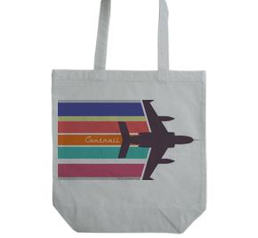 戦闘機と飛行機雲 トートバッグ