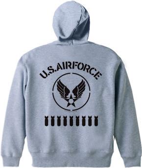 ジップアップパーカーデザインオールステンシルU.S. Air Force 2