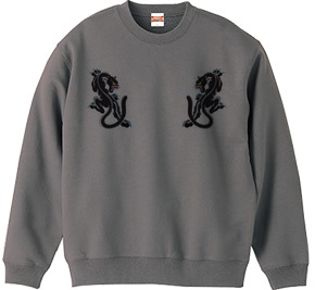 2匹のパンサー(黒豹)Black panther デザインTシャツ