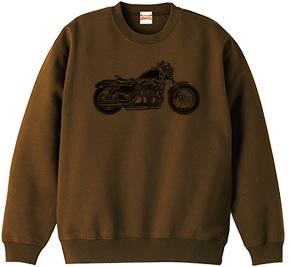 シンプル モーターサイクル デザインTシャツ & スエット