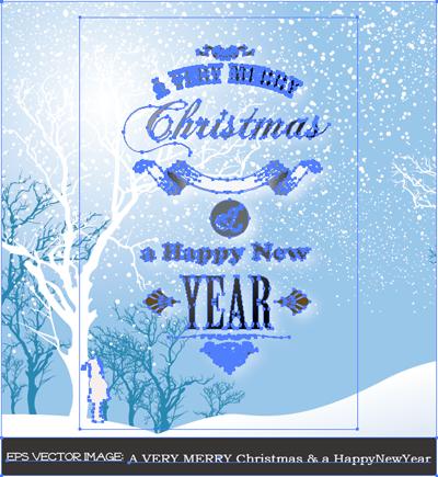 イラスト 楽しいクリスマスと良い新年