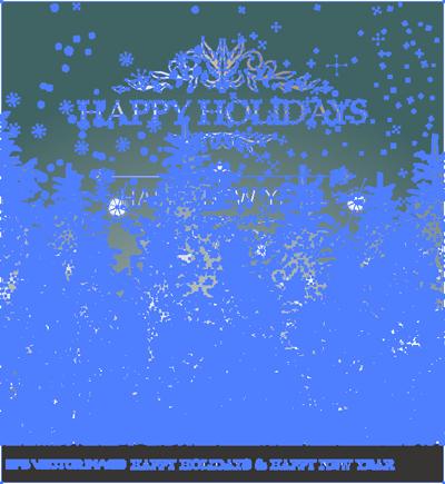 イラスト 楽しい休日と新年 (HAPPY HOLIDAYS & HAPPY NEW YEAR)