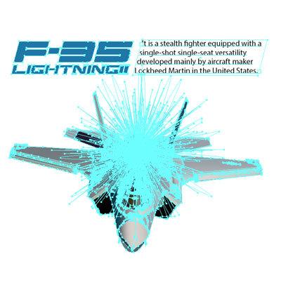 F-35 ライトニング II ステルス戦闘機 Tシャツ