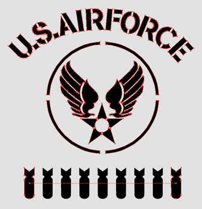 TシャツデザインオールステンシルU.S. Air Force 2