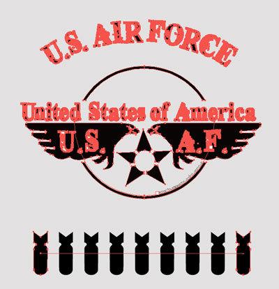 TシャツデザインオールステンシルU.S. Air Force 3