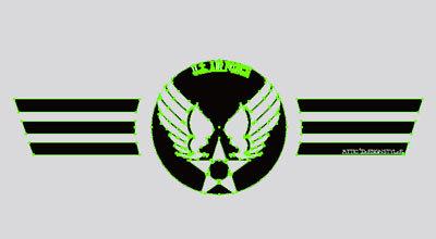 TシャツデザインオールステンシルU.S. Air Force ワンポイント