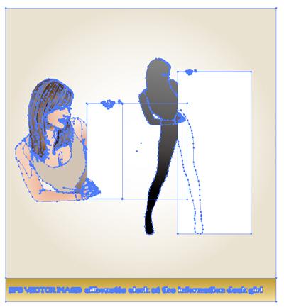 案内板を持つ女性、上半身の女性のイラスト