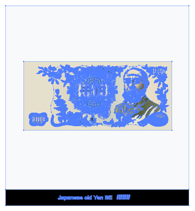 イラスト 旧紙幣1000円