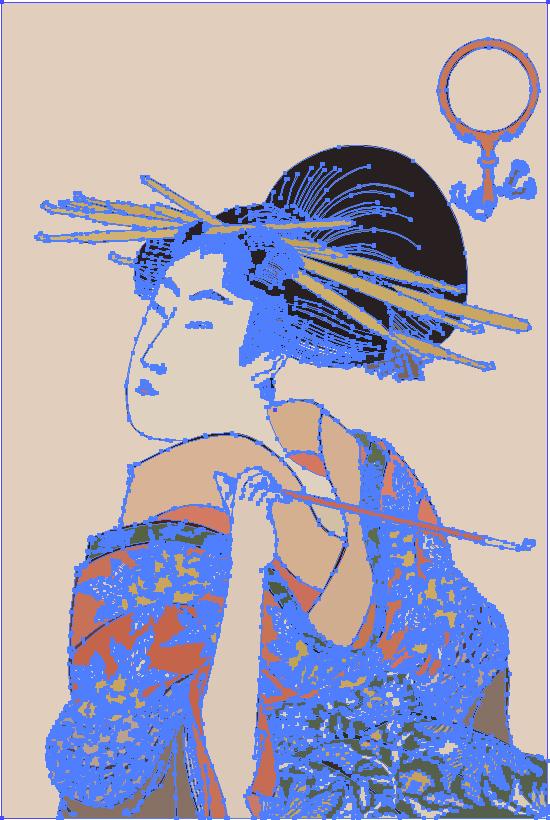 ポスター素材9 浮世絵 遊女 美人画