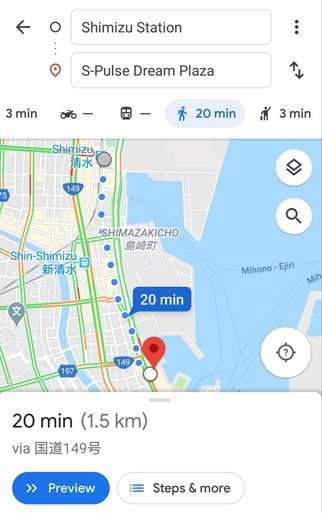 Google Map walking