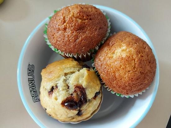 banana cup cake and muffin