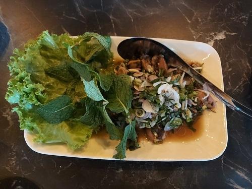 Thai spicy squid salad