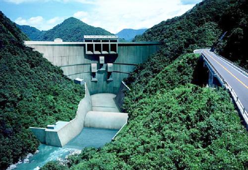 川辺川ダム完成予想図