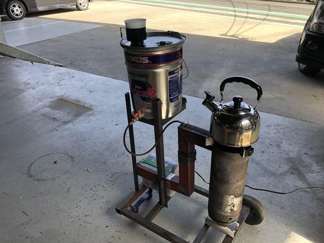 廃油ストーブ