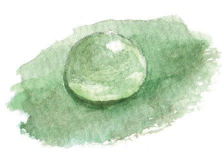 水滴 水彩 描き方