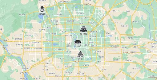 北京市街 map