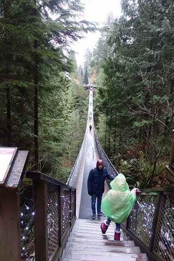 これがキャピラノ吊り橋。結構な長さです。