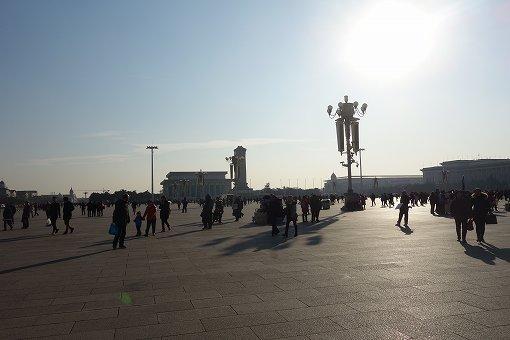 向かい側の天安門広場