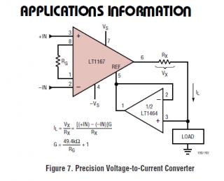 LT1167電圧電流コンバータ