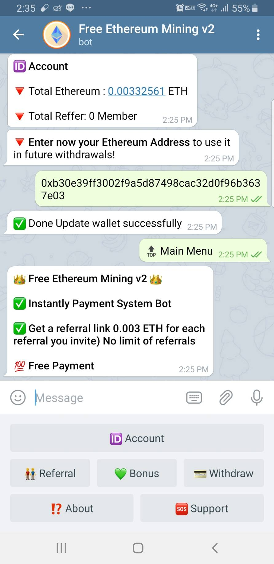 Telegram ETHBOT