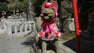 s淡島神社の狛狐