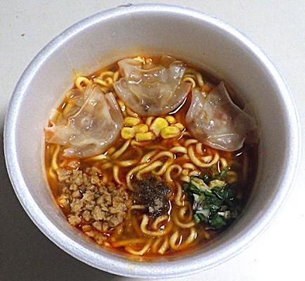 1/11発売 超スーパーカップ1.5倍 四川山椒香る辛味噌ワンタン麺(できあがり)