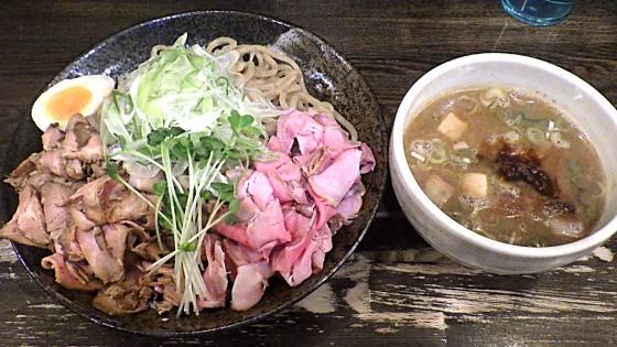 綿麺 つけ麺 大 燻製ハムトッピング(2020年10月)