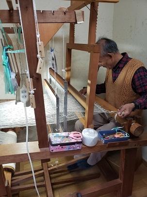 ウールを織るー1