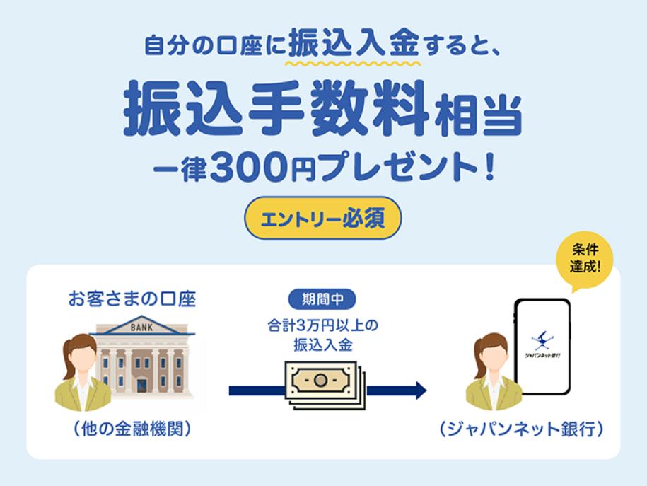 Screenshot_2020-11-05 300円もらえる! 自分の口座に振込入金キャンペーン|ジャパンネット銀行