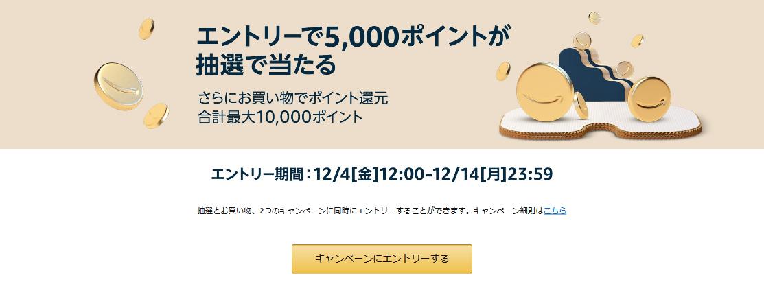 Screenshot_2020-12-06 エントリーで5,000ポイントが抽選で当たる さらにお買い物でポイント還元