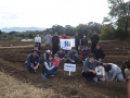 岡原花公園のチューリップ球根植えに参加してきました。