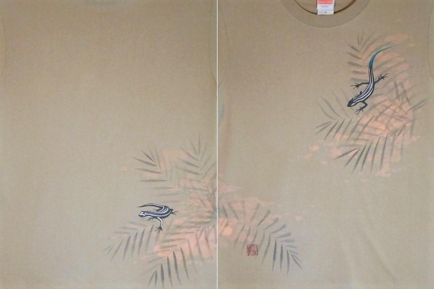 手描きTシャツ トカゲ 2020510 (2)b