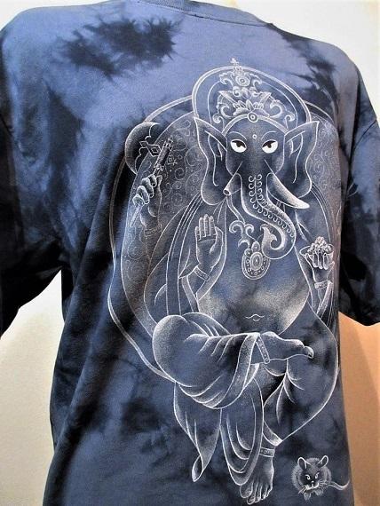 花音 手描きTシャツ ガネーシャ