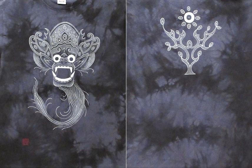 花音 手描きTシャツ バロン 2021517 (1)