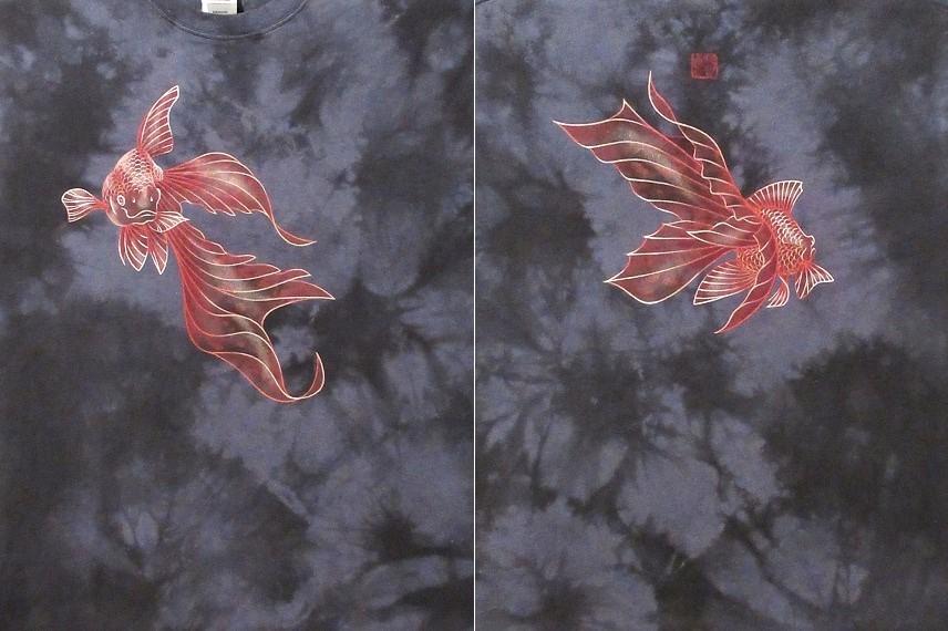 花音 手描きTシャツ 金魚