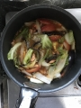 ピリ辛い野菜煮