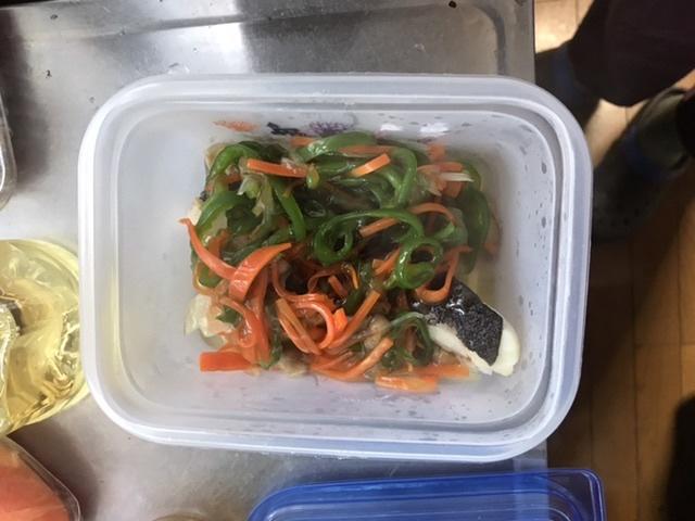 たらの野菜のあんかけ完成