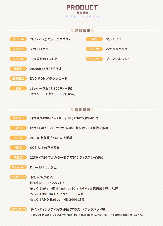 製品情報-「コイノハ-恋のシェアハウス-」