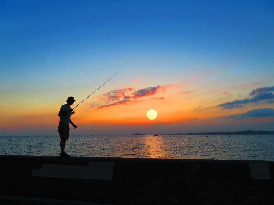 170527,夕日を釣る